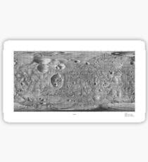 Black and White Moon of Mars Phobos Sticker