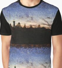 Lighthouse at sunset Graphic T-Shirt
