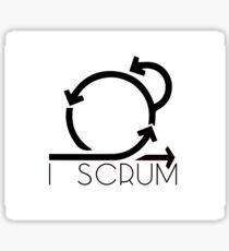 I Scrum - agile project Sticker