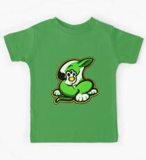 English Bull Terrier Kicking Back Lime and White  Kids Clothes