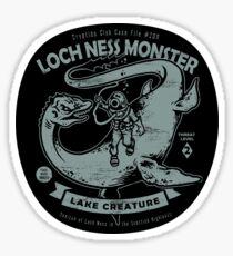 Lochness Monster - Cryptids Club Case file #200 Sticker
