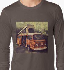 Orange Vintage VW Westfalia Camping T-Shirt