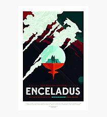 Vintage Beautiful Southern Enceladus Space Travel Photographic Print