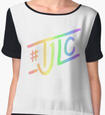 #TJLC text, rainbow Chiffon Top