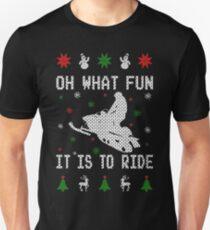 Snowmobile Ugly Christmas Tees T-Shirt