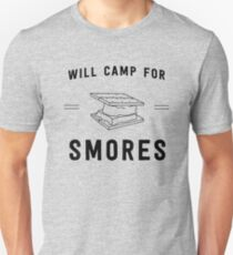 Will camp for smores Unisex T-Shirt