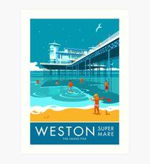 Weston super Mare, Grand Pier Art Print