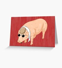 Porco Rosso Back To Home Greeting Card