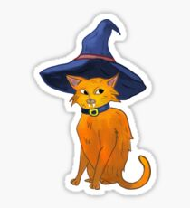 Witch Cat Sticker