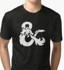 DND White Logo Tri-blend T-Shirt