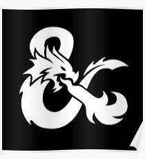 DND White Logo Poster