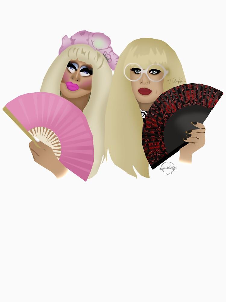 Trixie Mattel y Katya Zamolodchikova de TeeShells