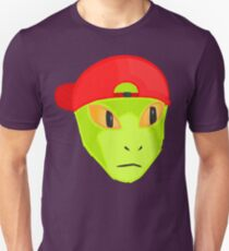 Alien Wearing Cap Tshirt Design T-Shirt