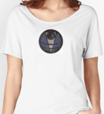 First Line - Abstract - Blue Women's Relaxed Fit T-Shirt