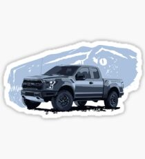 Ford Raptor - raptor dinosaurus background Sticker
