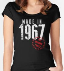 Made In 1967, All Original Parts Women's Fitted Scoop T-Shirt