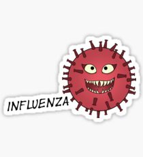 Influenza Virus Villain Sticker