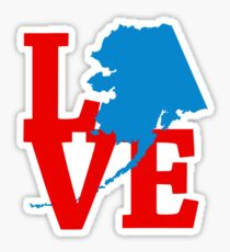 Alaskan Love Sticker