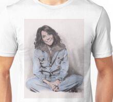 Karen Carpenter Tinted Graphite Drawing Unisex T-Shirt