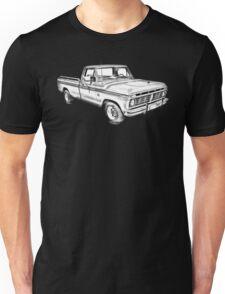 1975 Ford F100 Explorer Pickup Truck Illustrarion Unisex T-Shirt