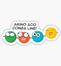 Amino Acid Conga Line Sticker