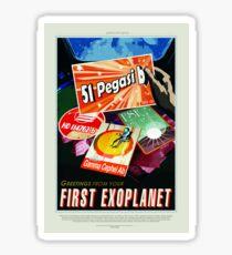 Vintage 51 Pegasi b First Exoplanet Travel Sticker