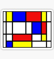 Retro Mondrian Pattern Sticker