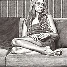 Donna On Her Sofa  by dbclemons
