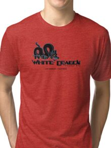 White Dragon - Noodle Bar (Black Variant) Tri-blend T-Shirt