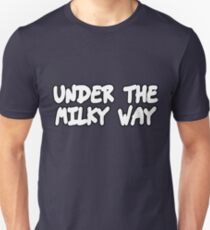 the church under the milky way under the milky way tonight band t shirts music tees rock tees punk t shirts pop culture t shirts pop tees funky t shirts donnie darko t shirt cellar door risky business Slim Fit T-Shirt