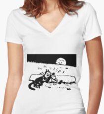 Krazy Kat Herriman Women's Fitted V-Neck T-Shirt