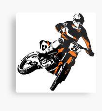 Moto Cross Racing Metal Print