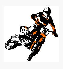 Moto Cross Racing Photographic Print