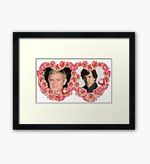 John and Sherlock, Sherlock and John Framed Print
