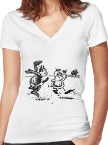 Herriman in Dance Women's Fitted V-Neck T-Shirt