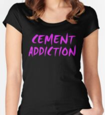 Cement Addiction Women's Fitted Scoop T-Shirt