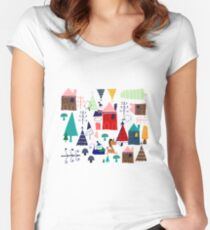 Christmas Unicorn Women's Fitted Scoop T-Shirt