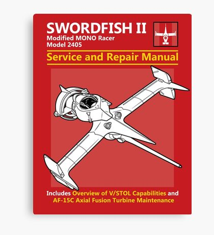 Swordfish Service and Repair Manual Canvas Print