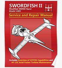 Swordfish Service and Repair Manual Poster