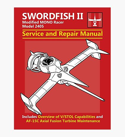 Swordfish Service and Repair Manual Photographic Print