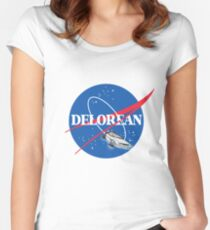 Delorean Nasa Women's Fitted Scoop T-Shirt