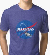 Delorean Nasa Tri-blend T-Shirt