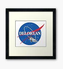 Delorean Nasa Framed Print