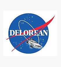 Delorean Nasa Photographic Print