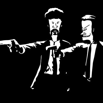 Beavis & Butthead Pulp Fiction by pixel-designs