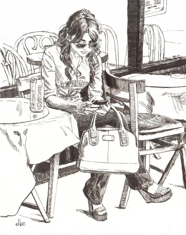 Vanessa Texting by dbclemons