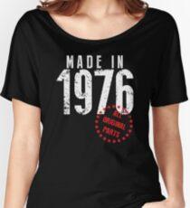 Camiseta ancha para mujer Hecho en 1976, todas las piezas originales