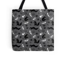 Wolf and Ghost Pattern Tote Bag