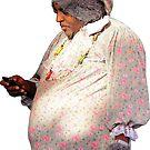 Wolf Grandma Man Texting by hilda74