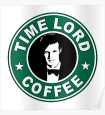 Time Lord Coffee Poster